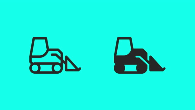 Skid Steer Loader Icons - Vector Animate