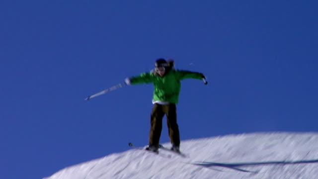 Skiers in the sky video