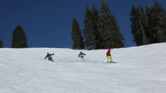 Skiing in Colorado Men skiing in Colorado, USA less than 10 seconds stock videos & royalty-free footage