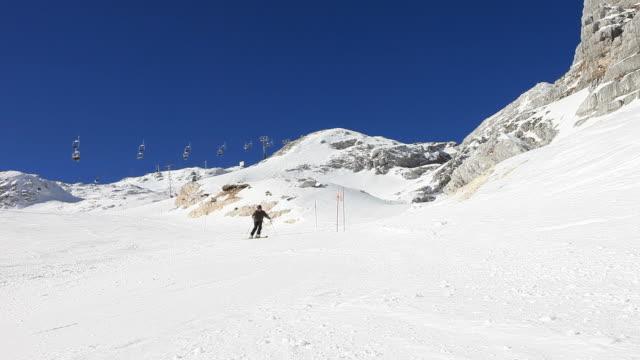 HD: Skiing on snow video