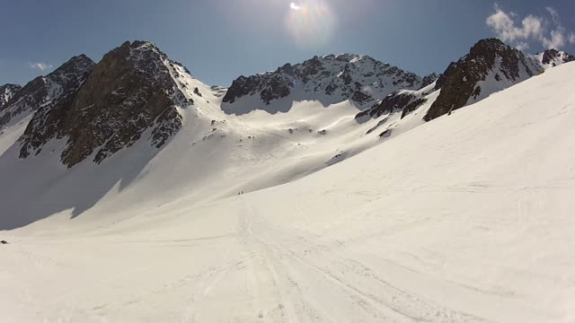 stockvideo's en b-roll-footage met skiing - gopro