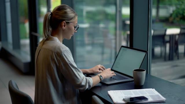skicklig kvinna gör online banking via laptop dator kontroll cvv kod på kreditkort under shopping - accounting bildbanksvideor och videomaterial från bakom kulisserna