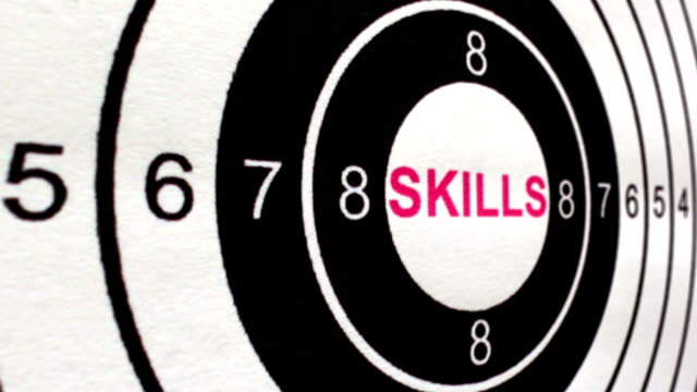 Skills target concept dolly shot video