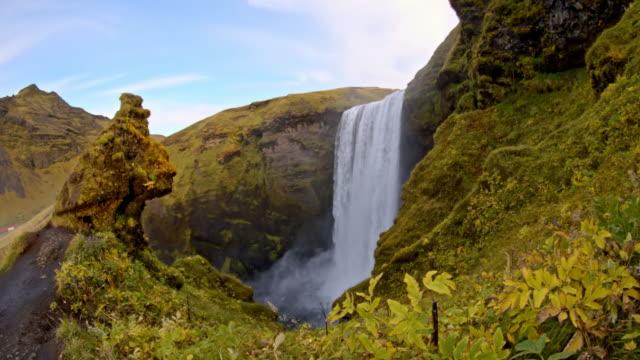 DS Skogafoss waterfall in Iceland video