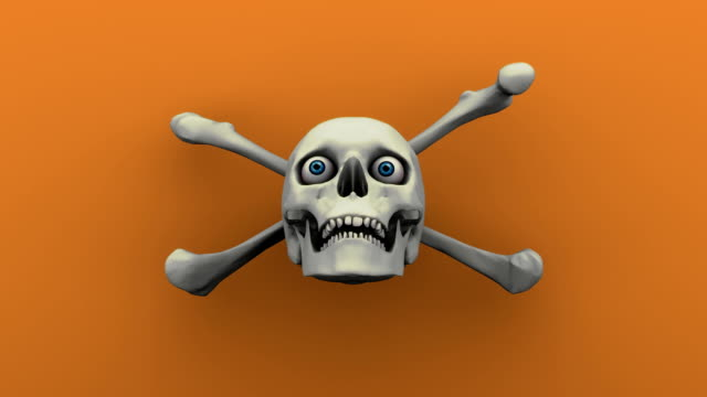 Skull and Crossbones for Halloween video