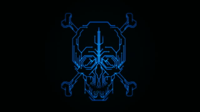 Skull and Crossbones with Circuit Board video