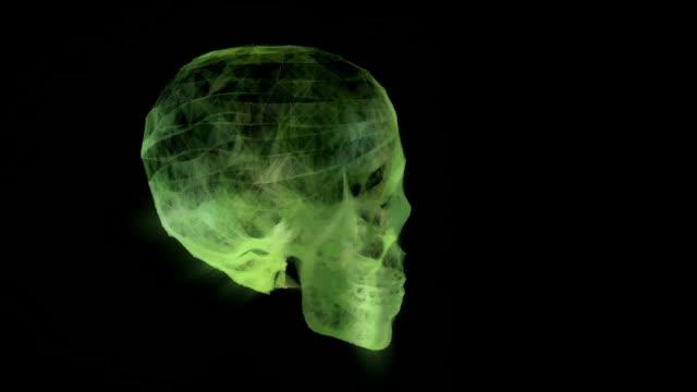 Skull Background Animation video