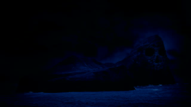 Skull Island In Sea At Night video