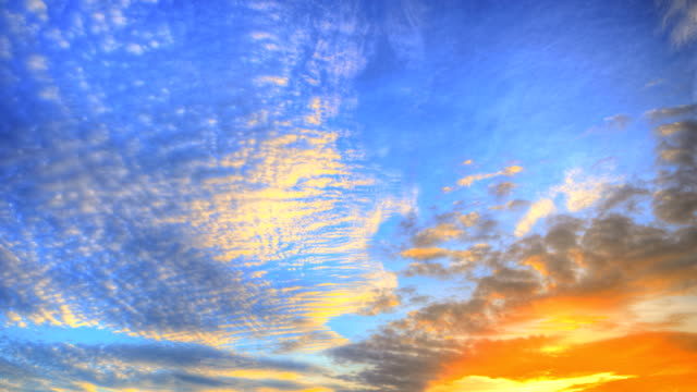 Sky at Sunset (HDR) 4K Time Lapse:Video formats Sky at Sunset (HDR) high dynamic range imaging stock videos & royalty-free footage