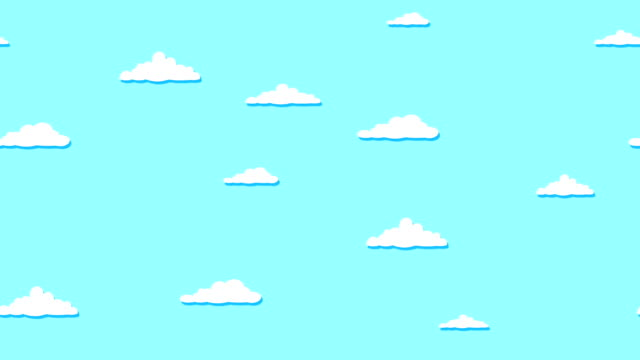 sky full of clouds moving right to left - kawaii video stock e b–roll