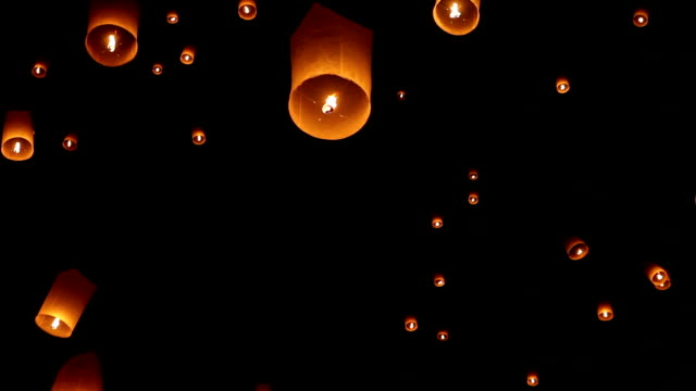 Sky Lanterns in Chiang Mai Thailand video
