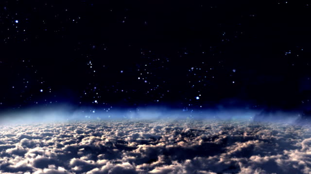sky panning night to day video
