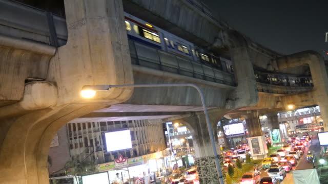 Sky train in Bangkok city video