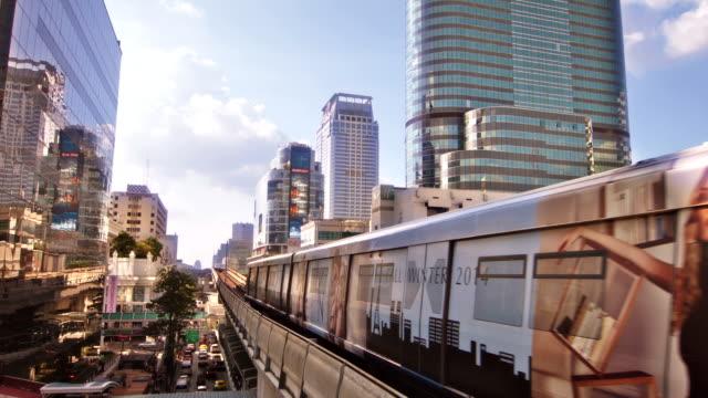 Sky train in Bangkok video
