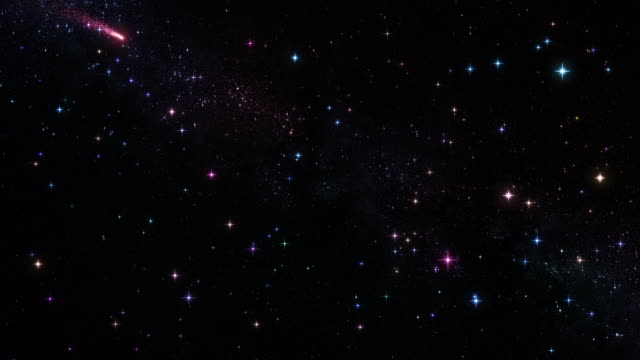 Sky with shooting stars. Loopable.