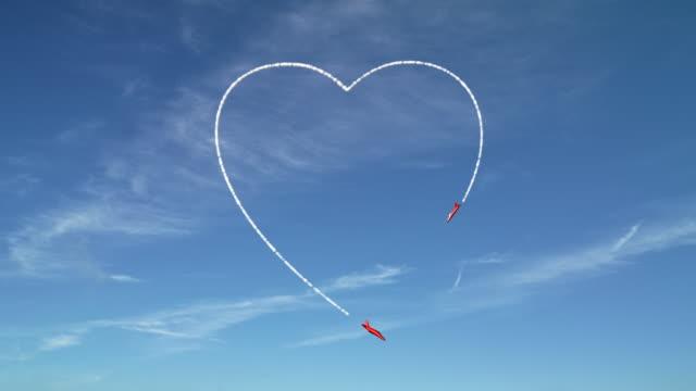 Sky Writing Love Heart video