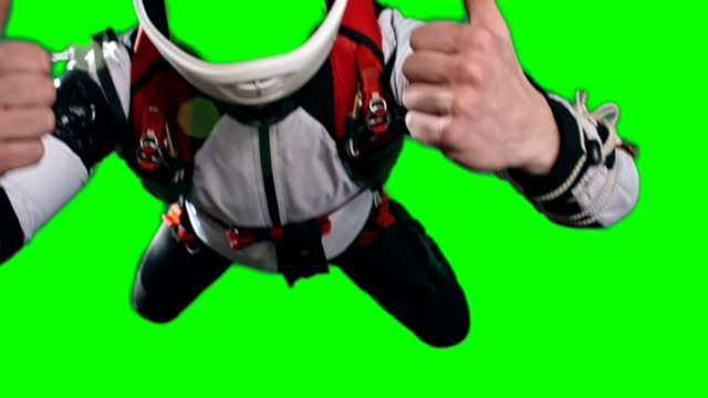 Skydiver in Free Fall Template video