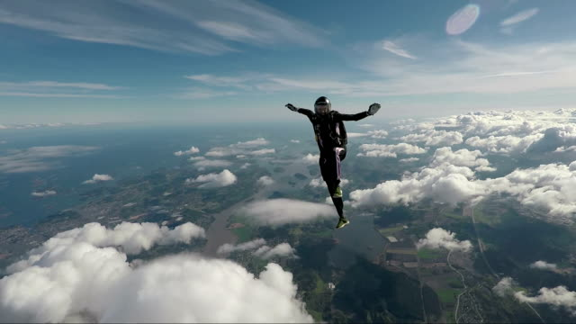 skydiving in norway - in cima video stock e b–roll