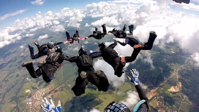Skydiving pov group