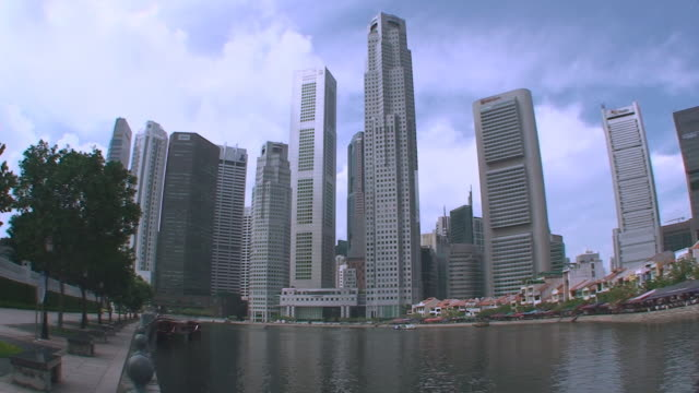 Skyline and Boat Quay - Singapore video