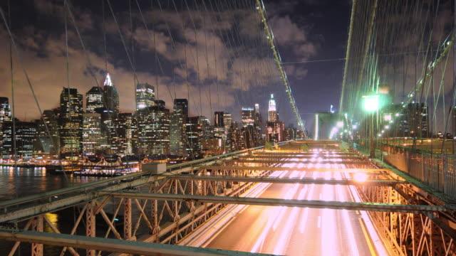 NYC skyline and Brooklyn Bridge video