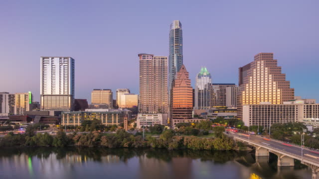 Skyline Austin, Texas at twilight video