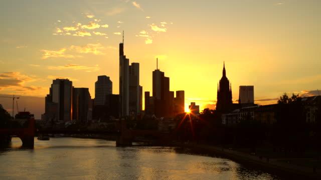 Skyline Frankfurt bei Sonnenuntergang – Video