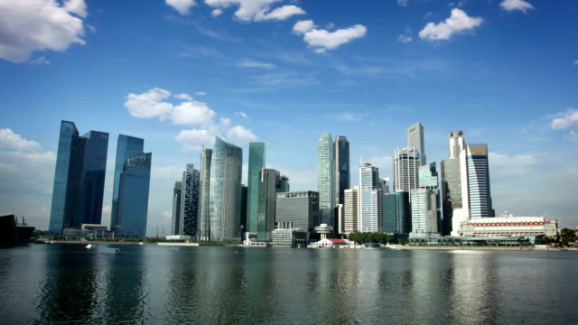 Skyline of Central Business District, Singapore video