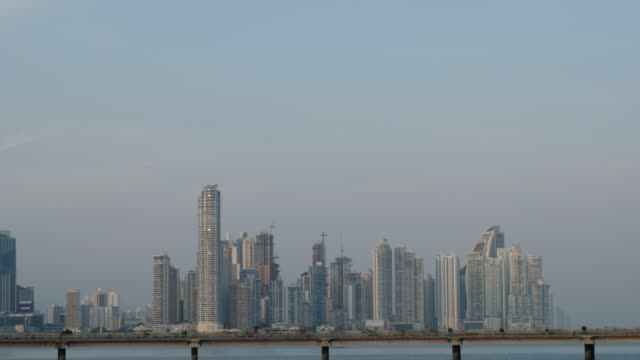 skyline of downtown panama city - ocean front properties stock videos & royalty-free footage