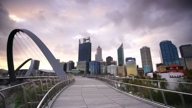 Skyline of Perth with city central business district