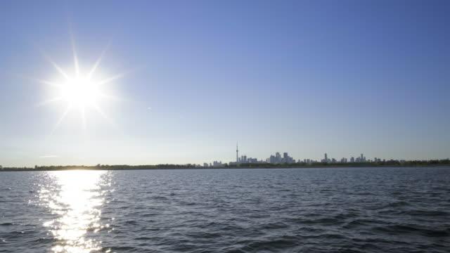 skyline of toronto 4k in summer video