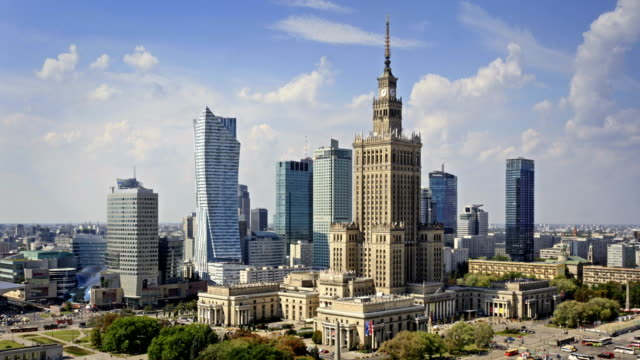 Skyline of Warsaw, Poland video