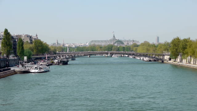 Skyline over the river Seine at Paris, France