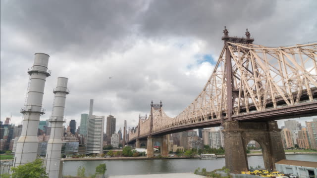 NY Skyline Queensboro Bridge over East River video