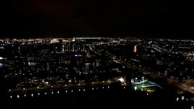 skyline rotterdam, time lapse - rotterdam video stock e b–roll