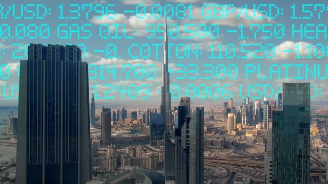 Skyline Ticker - Dubai, UAE video