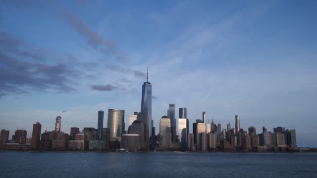 NYC Skyline Time Lapse Dusk to Night 2020 shot with Sony RX0 ii new york city stock videos & royalty-free footage