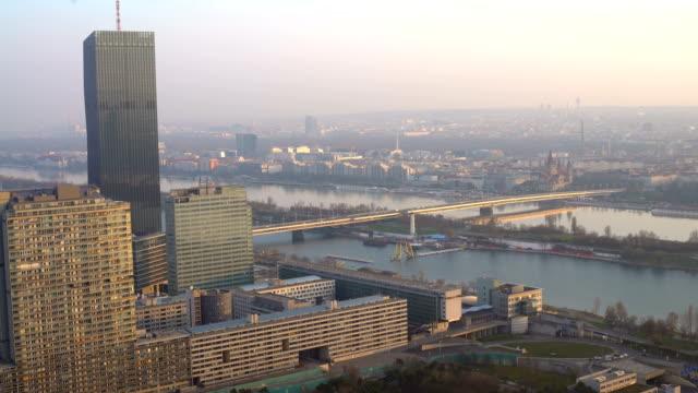 Skyline Vienna with bridge video