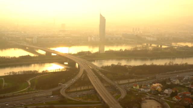 Skyline Vienna with highway video