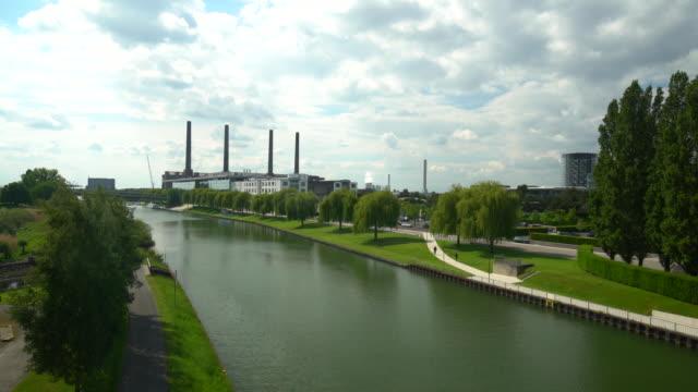 Skyline Wolfsburg, Realtime Skyline Wolfsburg, Realtime wasser videos stock videos & royalty-free footage