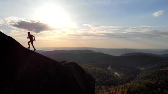 Skyrunner on the ridge at sunset.