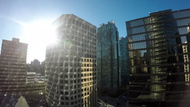 Skyscraper at Vancouver Skyscraper at Vancouver / Time Lapse Day and Night vancouver canada stock videos & royalty-free footage