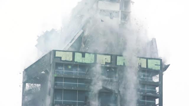 Skyscraper Demolition Blast in Real Time