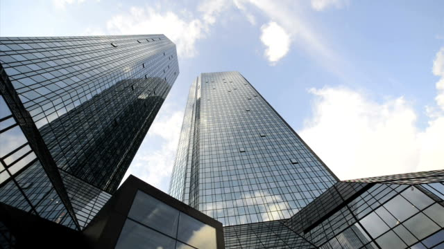 Skyscraper, Deutsche Bank, Frankfurt, Germany, Time Lapse video