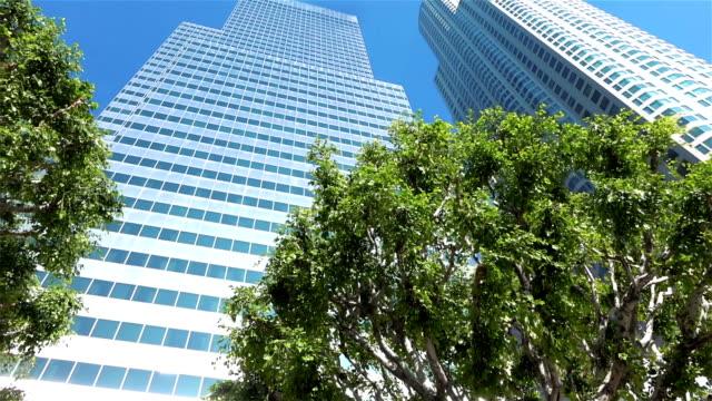 Skyscraper in Los Angeles slow motion video