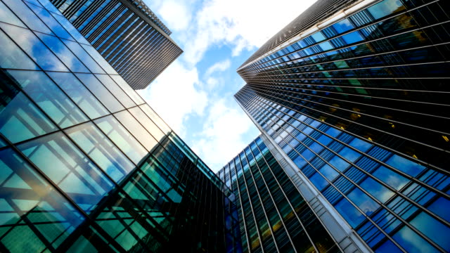 Skyscraper office business building in London, England - time-lapse