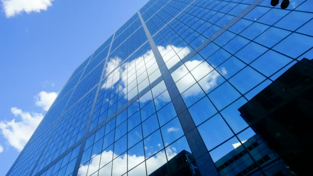 4K Skyscraper office business building in Paris, La defense - time-lapse 4K video