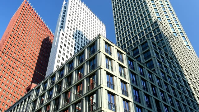 stockvideo's en b-roll-footage met skyscrapers in the hague - den haag