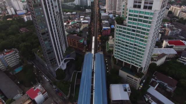 BTS Skytrain, Bangkok, Thailand by Drone video