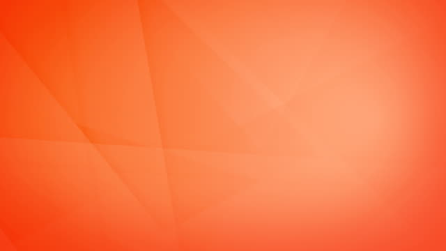vídeos de stock e filmes b-roll de slanted, angled and sharp cornered abstract orange geometric shapes, rectangles, triangles, squares meshing each other and floating around loop able seamless 4k background video - laranja cores